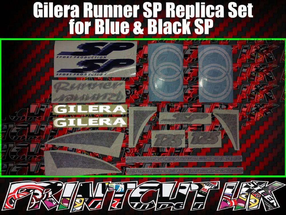 Gilera Runner SP Stickers Decals Blue & Black Set Kit Rep 50 70 125 172 180